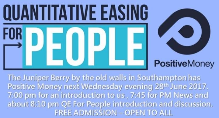 Positive Money Southampton June Event