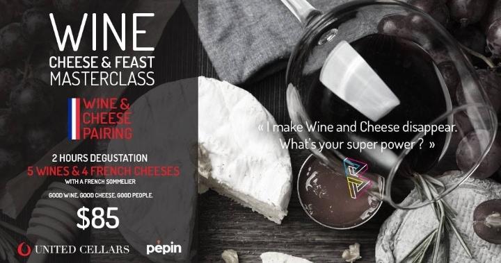 Wine and Cheese Masterclass @Bastille Festiva