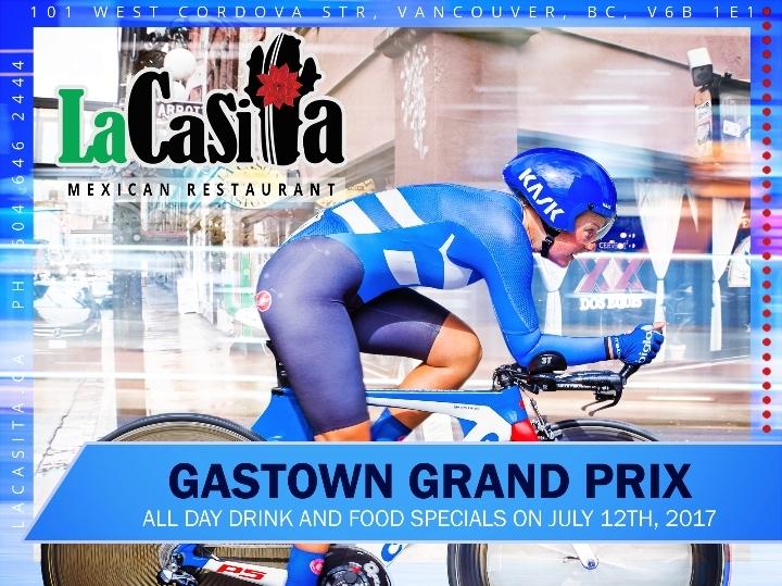 Gastown Grand Prix Drink and Menu Specials in