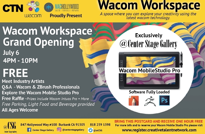 Wacom Workspace Grand Opening