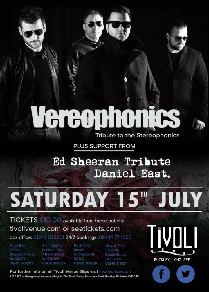Stereophonics & Ed Sheeran Tribute Show