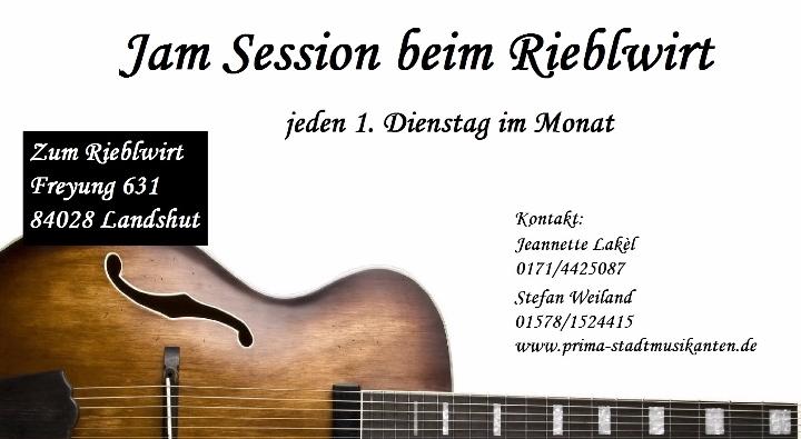 Jam Session / Offene Bühne beim Rieblwirt