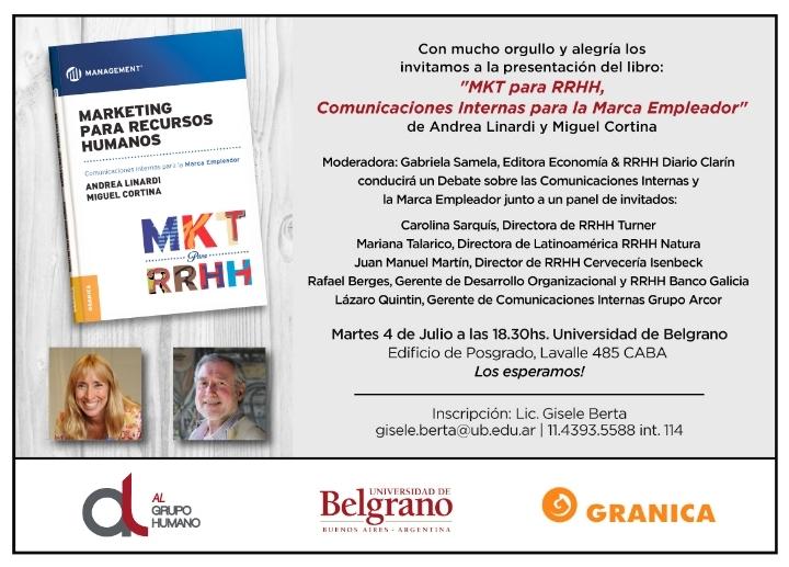 Presentación libro: Marketing para RRHH, Comu