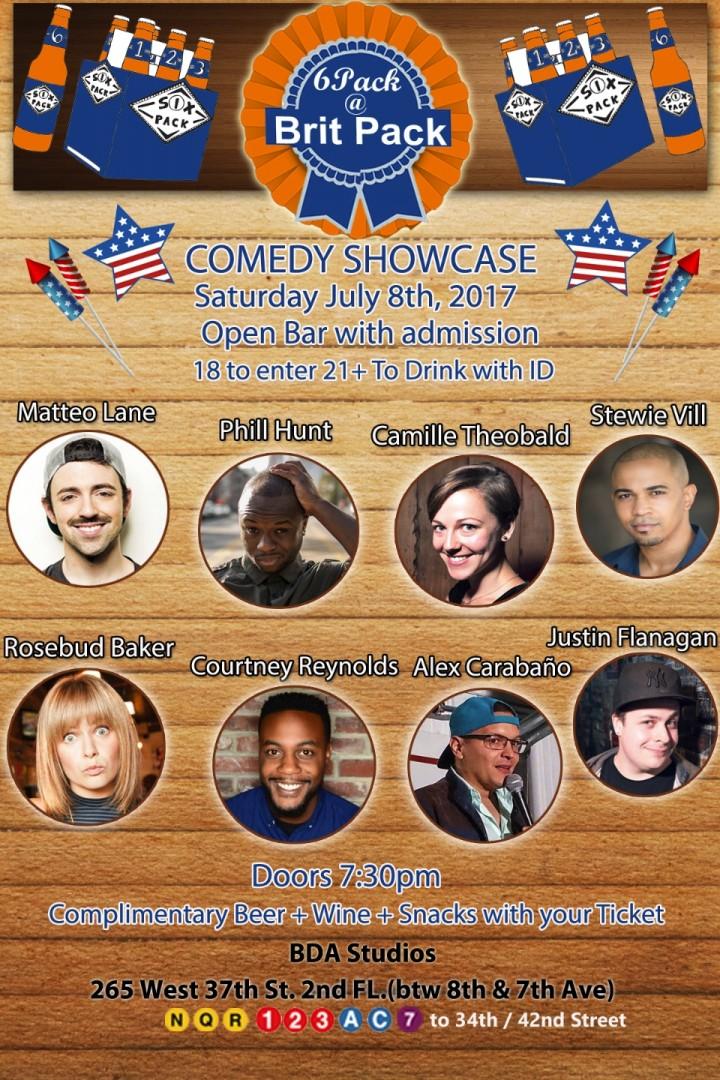 Free Drinks + Open Bar Comedy Showcase