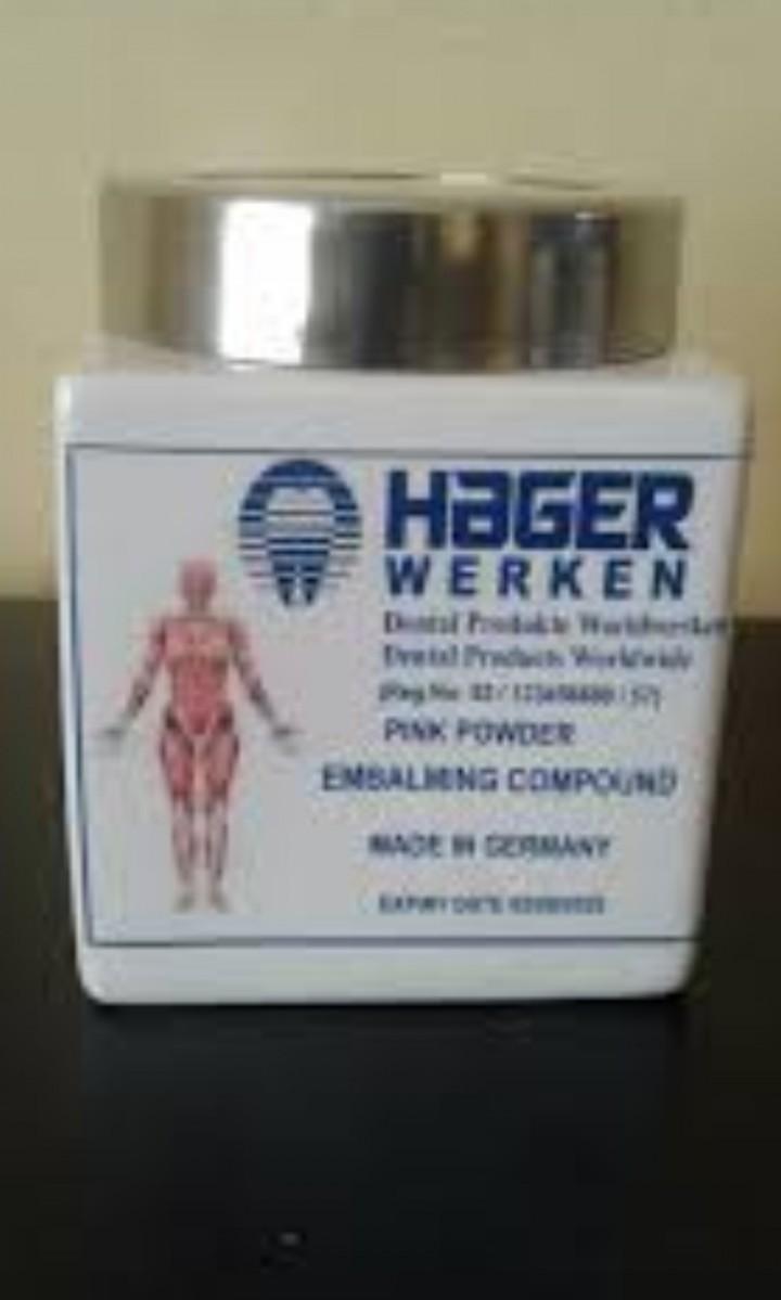 hager werken +27839281381 embalming compound