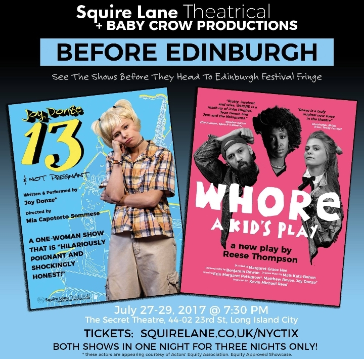 Before Edinburgh: A double bill of WHORE and
