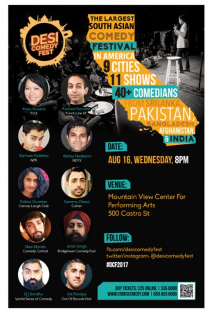 Desi Comedy Fest - MVCPA Mountain View Wednes