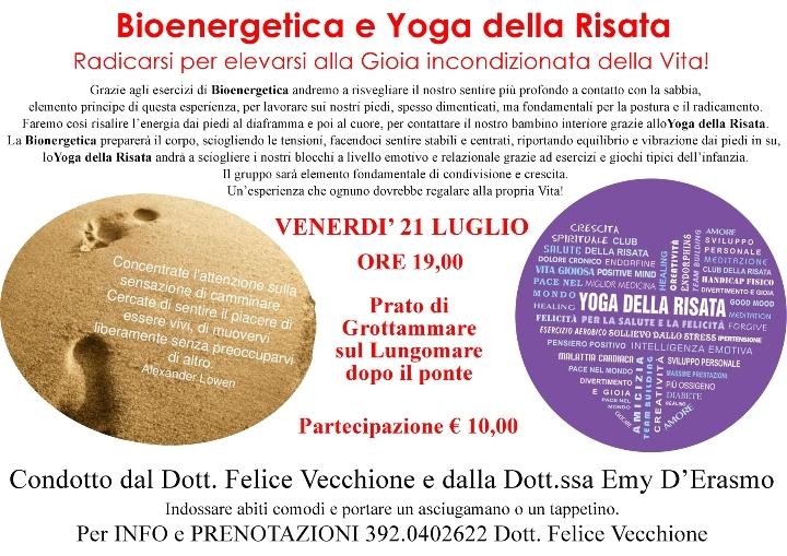 Classe di Esercizi di Bioenergetica e Yoga della Risata
