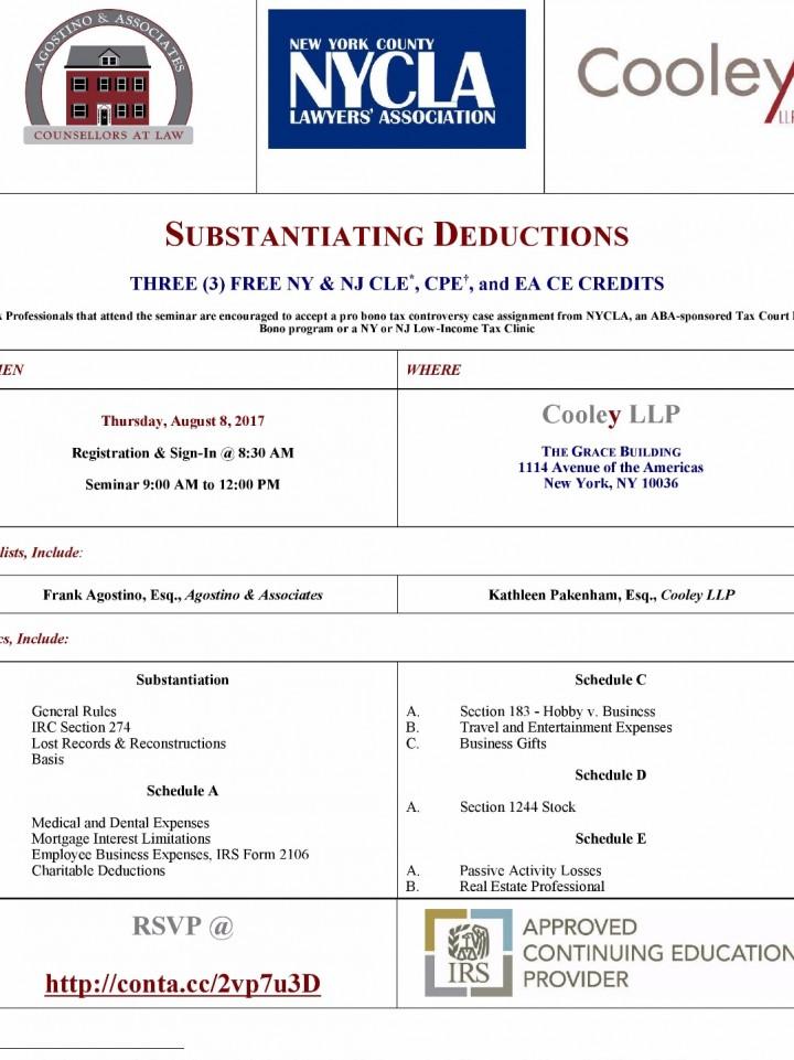 NYCLA - Tax Court Pro Bono Program - Substant