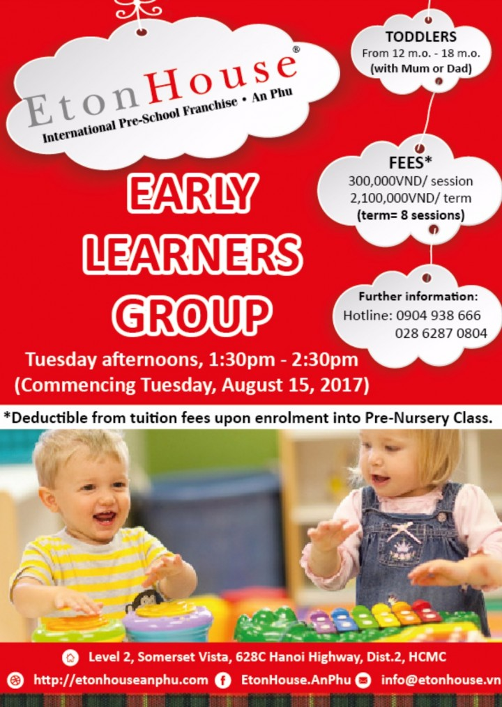 Early Learners Group from 12m.o-18m.o