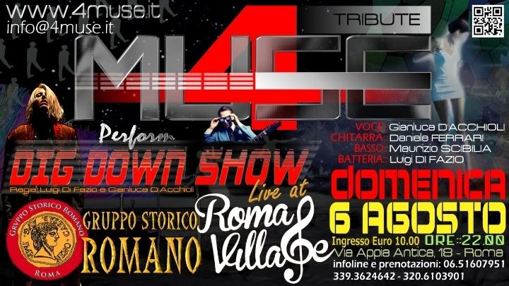 I 4MUSE Live al Roma Village - Gruppo Storico