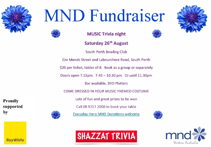 Drive for MND Fundraiser Music Trivia Night