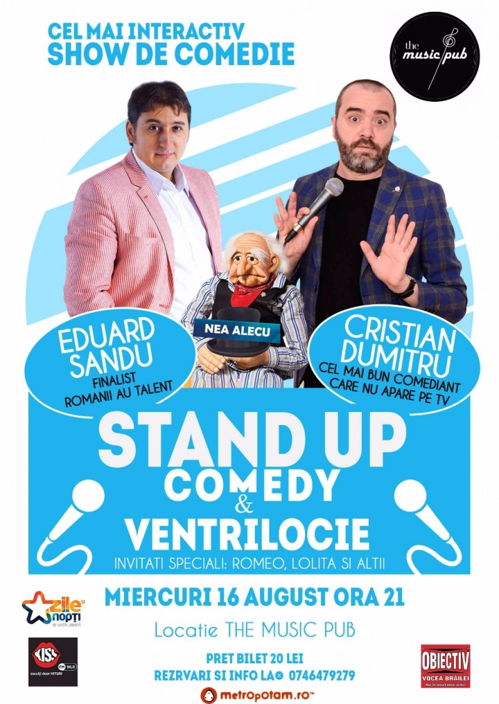 Stand-Up Comedy Braila Miercuri 16 August 2017