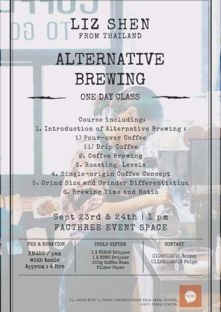Alternative Coffee Brewing Class by Liz Shen from Thailand