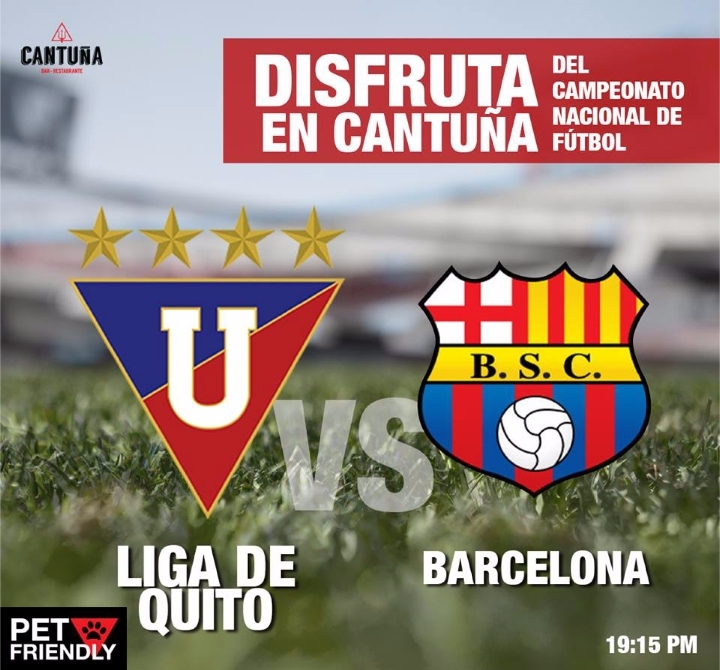 Liga de Quito vs. Barcelona Pantalla Gigante