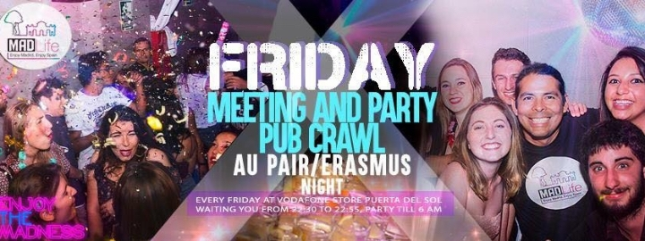Friday Meeting & Party Pub Craw!Free Sangria.
