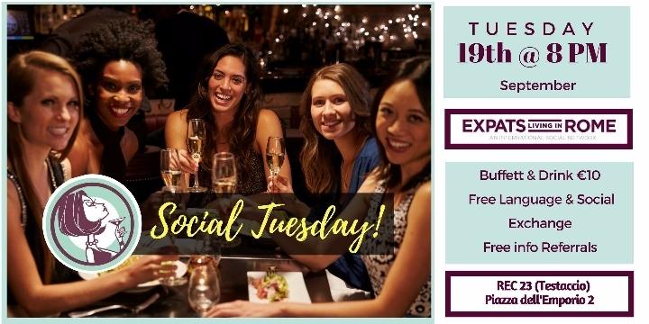 Rome Expats & Diplomats Social Tuesday Aperitif (Testaccio)