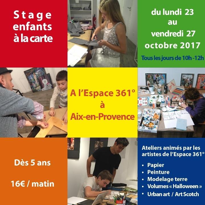 Stage enfants/Ado Arts plastiques à la carte - Toussaint