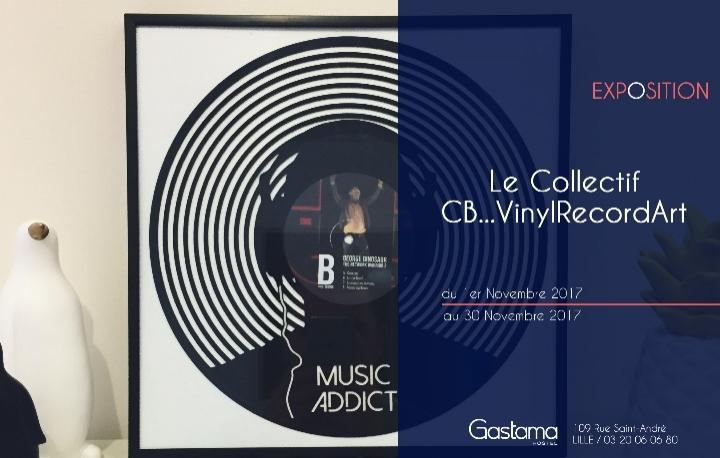 Œuvres 100% Disques Vinyles Recyclés – L'exposition de Cb Vinyl Record Art