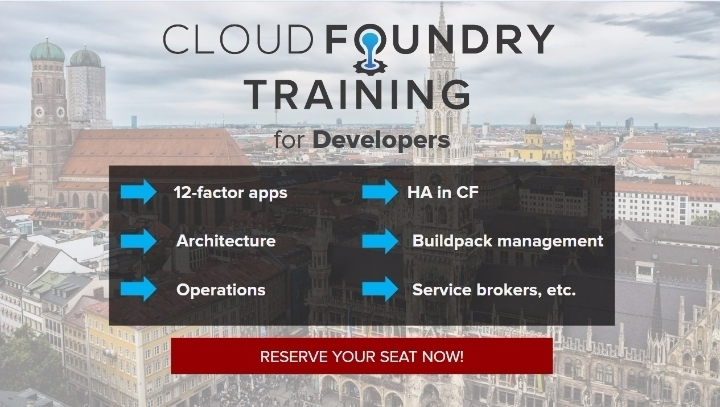 [TRAINING] Cloud Foundry for Developers: Munich