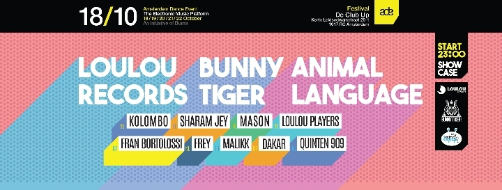 LouLou records, Bunny Tiger, Animal Language ADE Showcase