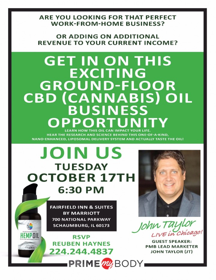 CBD (CANNABIS) OIL BUSINESS OPPORTUNITY!