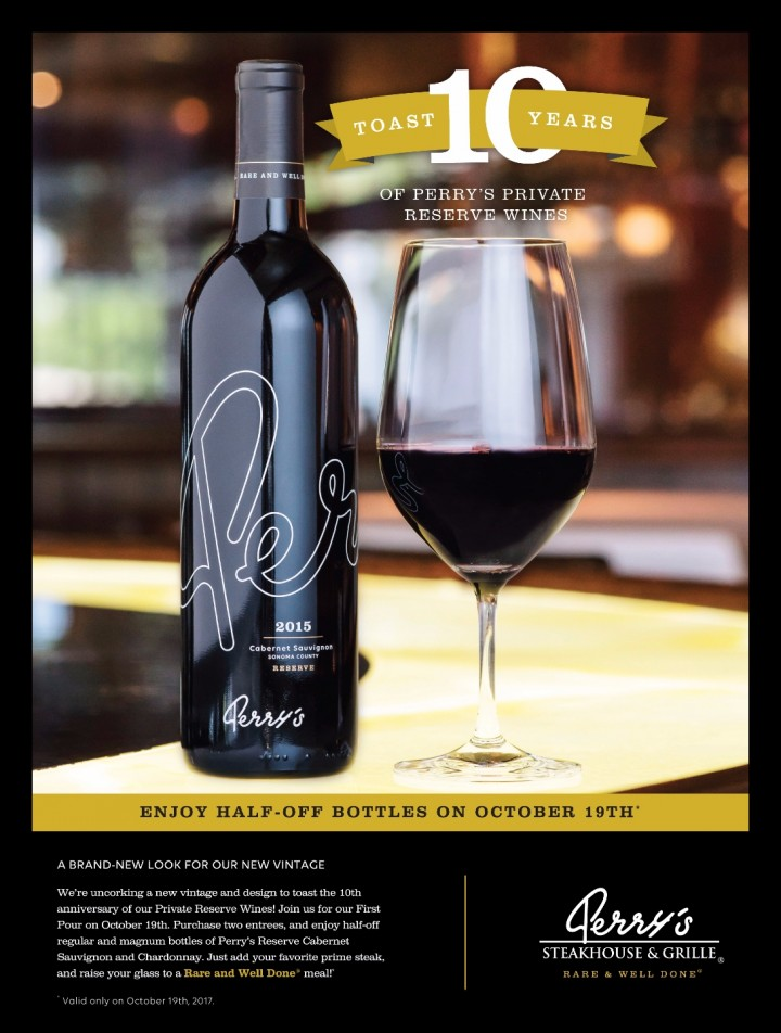 Perry's Steakhouse & Grille Premiers New Private Reserve Wines