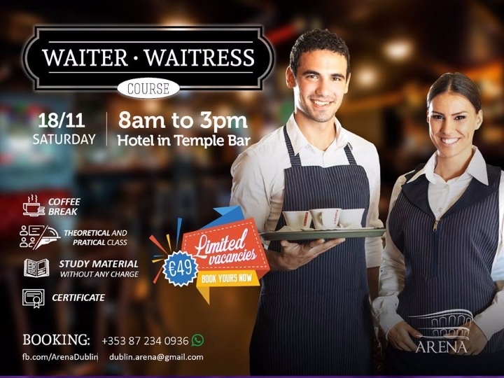Curso de Waiter / Waitress / Garçom
