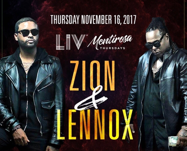 Zion y Lennox this Thursday at LIV Miami