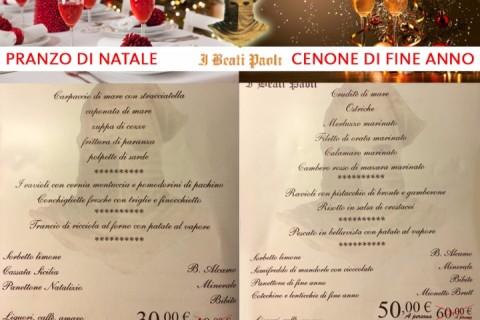 Menu Di Natale Cenone.Il Pranzo Di Natale Ed Il Cenone Di Fine Anno Al Covo Dei Beati