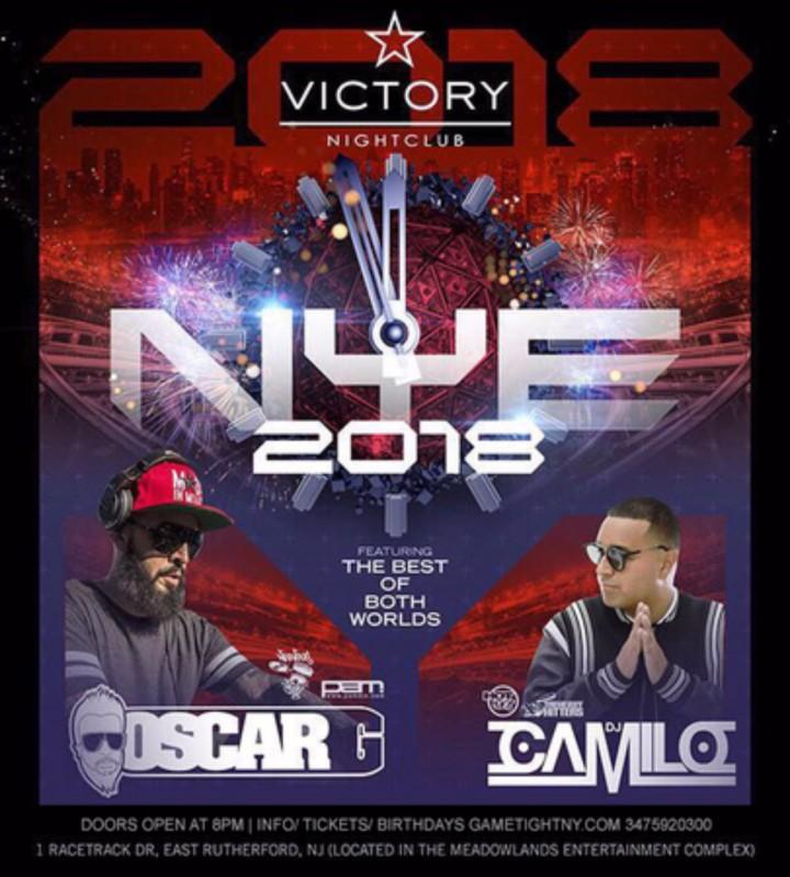 Dj Camilo & Oscar G Victory Nightclub NYE 2018