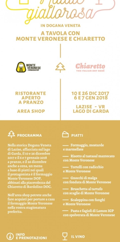 Natale Giallorosa a Tavola con Monte Veronese e Chiaretto