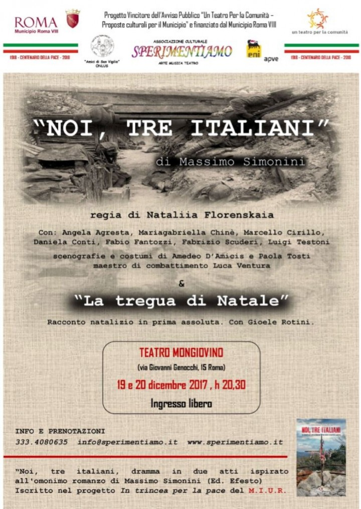 Spettacolo teatrale Noi, Tre Italiani