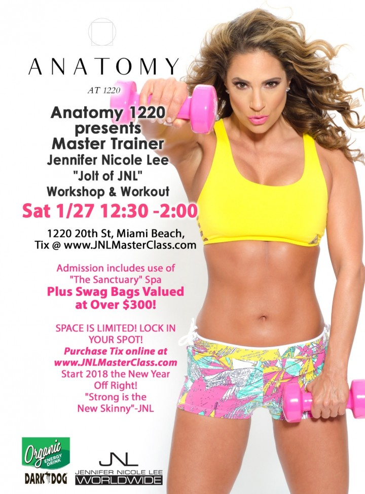 SWEAT & SWAG with Fit Star Jennifer Nicole Lee! Master Class & Workshop! Swag Bags Valued at over $300!