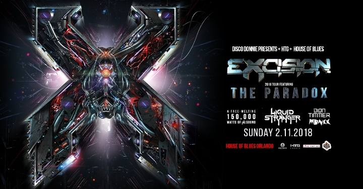 Excision at House of Blues w/ Liquid Stranger, Dion Timmer & Monxx