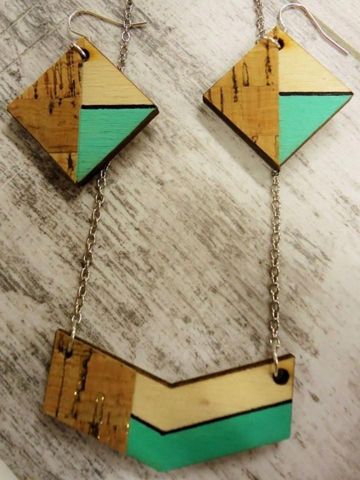 Workshop juwelen met hout en kurk