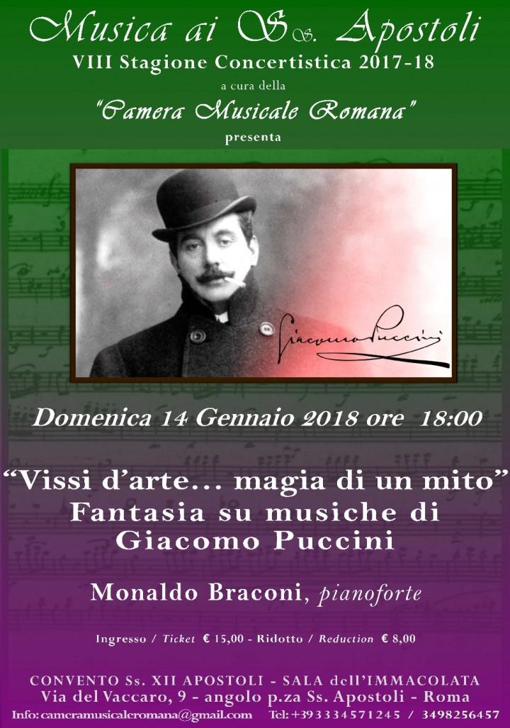 """""""Vissi d'arte… magia di un mito"""" Fantasia su musiche di  Giacomo Puccini"""