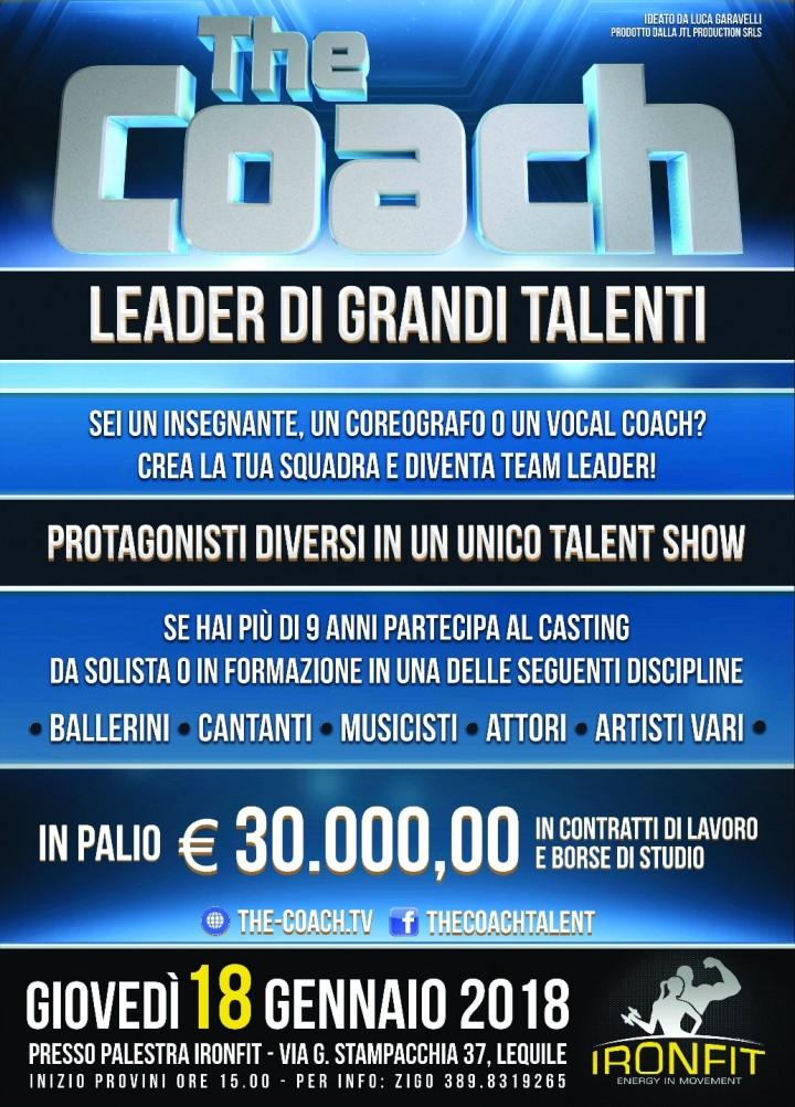 Palestra Ironfit ospita ` The Coach`, il casting per grandi talenti !