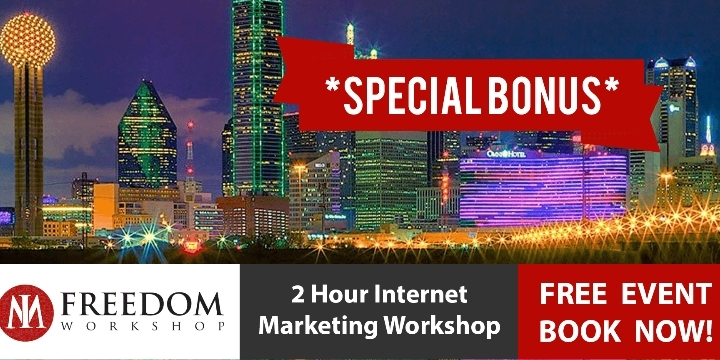 FREE 2 Hour Internet Marketing, Online Business Workshops in Iriving, Texas USA