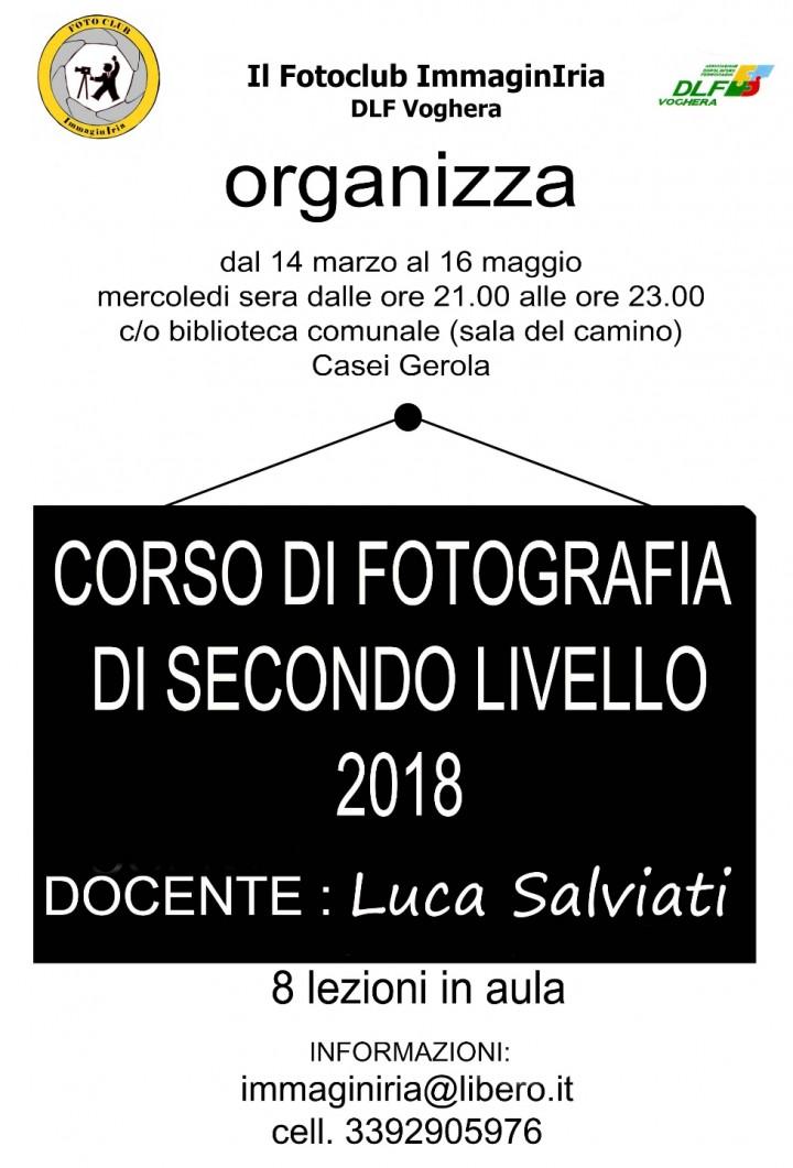 CORSO DI  FOTOGRAFIA 2018