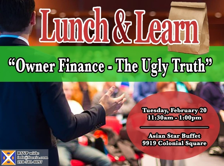 Lunch & Learn - Owner Finance- The Ugly Truth