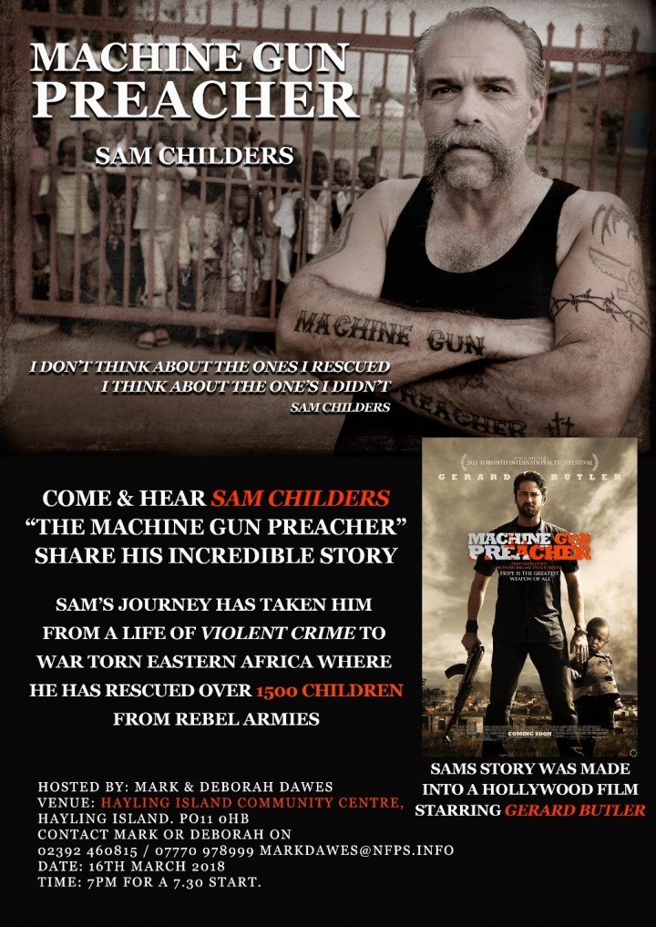FREE EVENT - SAM CHILDERS - The REAL MACHINE