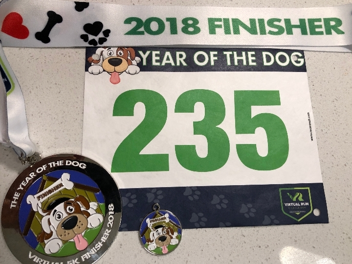 Year of the Dog Virtual 5k Run Walk - Rochest
