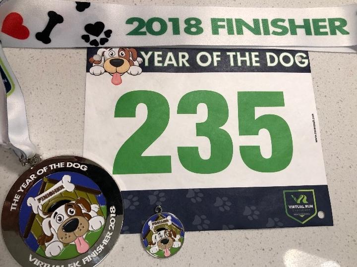 Year of the Dog Virtual 5k Run Walk - Hayward