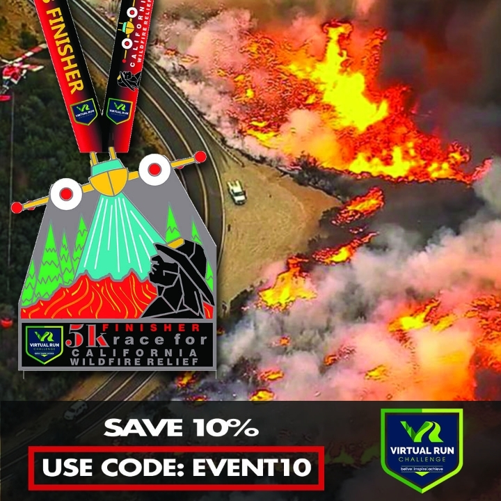 California Wildfire Relief Virtual 5k Run/Wal