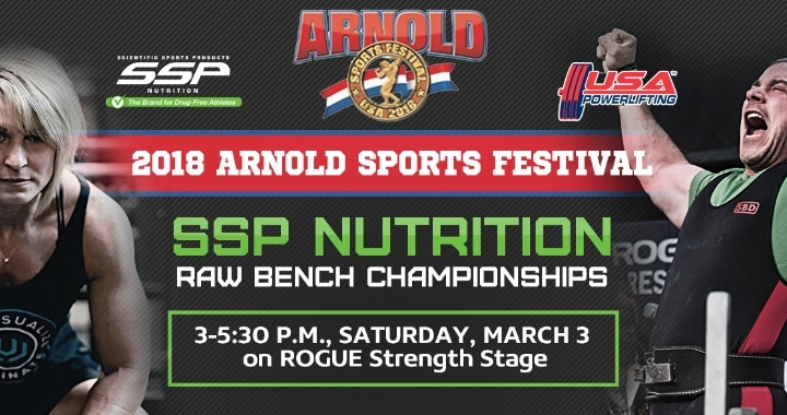 2018 Arnold Festival:  SSP Nutrition RAW Benc
