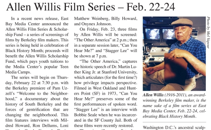 "Allen Willis Film Series - Pam Uzell's ""Welco"