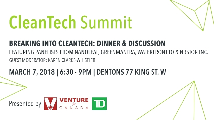 Venture for Canada & TD CleanTech Summit
