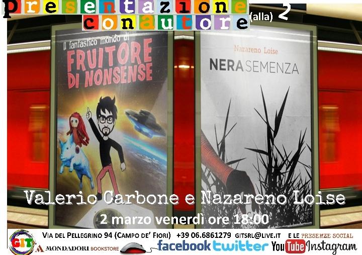 SpazioInQuinta con Valerio Carbone e Nazareno Loise
