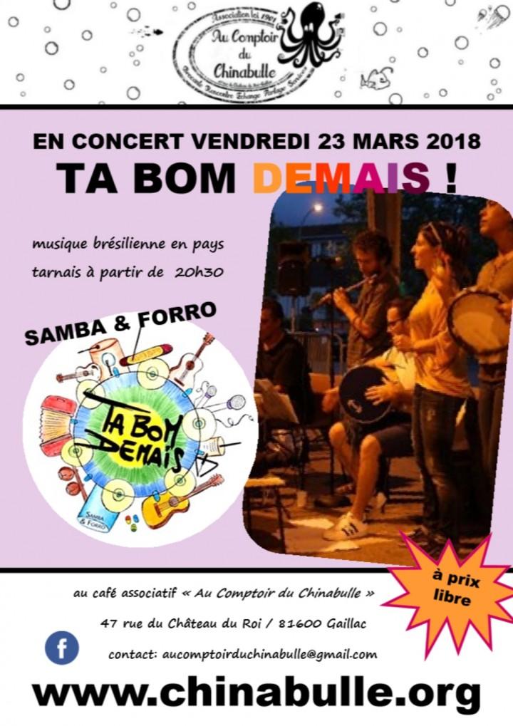 "Concert samba/forro ""Ta Bom Demais"